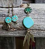 Náhrdelníky - Tyrkysový náhrdelník - travertín - 6973811_