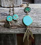 Náhrdelníky - Tyrkysový náhrdelník - travertín - 6973812_
