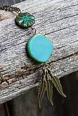 Náhrdelníky - Tyrkysový náhrdelník - travertín - 6973813_