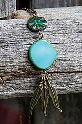Náhrdelníky - Tyrkysový náhrdelník - travertín - 6973814_