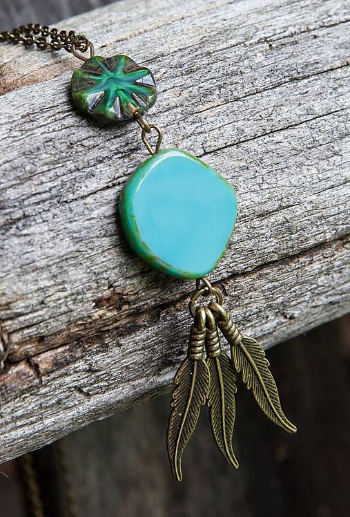 Tyrkysový náhrdelník - travertín