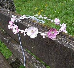 Ozdoby do vlasov - Jemnučký ružový venček - 6976116_