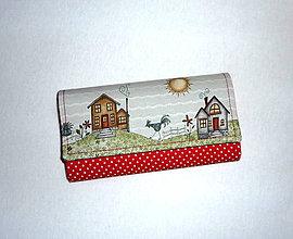 Peňaženky - Peňaženka - Na vidieku v červenej. - 6973367_