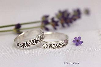 Prstene - strieborné folklórne obrúčky - Krakovany - 6975058_