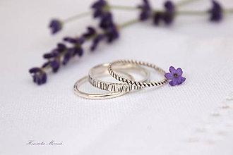 Prstene - sada strieborných prsteňov - moderné - 6975081_