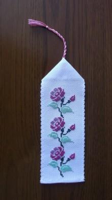 Drobnosti - záložka ruža - 6977826_