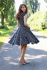 Šaty - Čierno biele bodkované šaty  - 6976526_