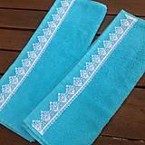 Úžitkový textil - Uteračiky tyrkysové - 6978226_