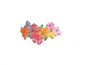 Iné šperky - kvetinová spona do vlasov - 6976815_