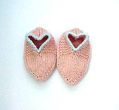 Topánočky - Papučky pre vaše srdiečka z cukrovej vaty - 6979069_