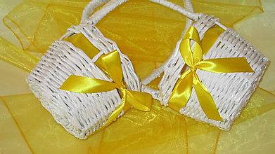 Košíky - Svadobné košíky-žlté - 6977576_