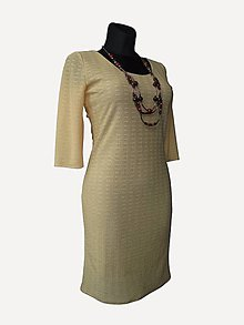 Šaty - šaty z úpletu, žlté - 6976908_