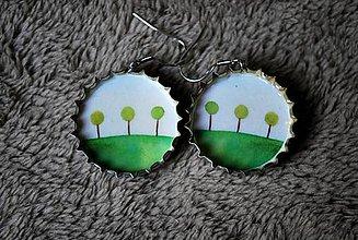 Náušnice - stromy - 6977141_