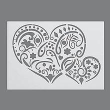 Pomôcky/Nástroje - Šablóna na maľovanie Srdcia, ľudový vzor - 6977081_