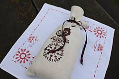 Úžitkový textil - vrecúško Chocolate Bird - 6976672_