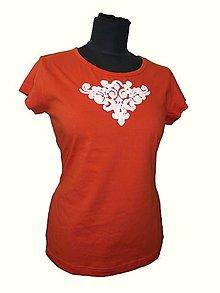 Tričká - tričko s ľudovým motívom - 6977023_