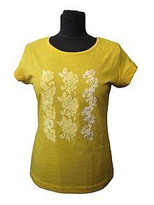 Tričká - tričko s maľovanými ornamentmi - 6977180_