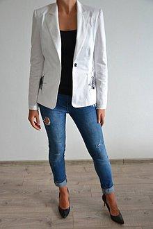 Kabáty - Biele pavučinkové sačko - 6977093_