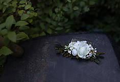 Ozdoby do vlasov - Nežný kvetinový hrebienok...