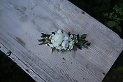 Ozdoby do vlasov - Nežný kvetinový hrebienok...na želanie - 6977689_