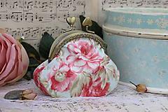 Peňaženky - Minitaštička V růžích - 6978130_