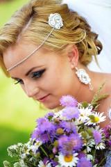 Ozdoby do vlasov - Svadobná štrasová čelenka - 6979138_
