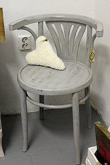 Nábytok - Sivá stolička - kreslo - predaná - 6976641_