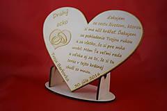 Darčeky pre svadobčanov - Drevene srdiečko ako poďakovanie rodičom 22 - 6979341_