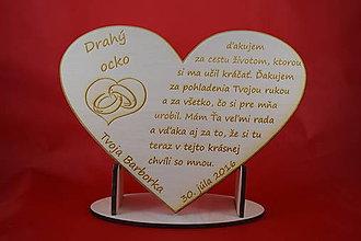 Darčeky pre svadobčanov - Drevene srdiečko ako poďakovanie rodičom 22 - 6979340_