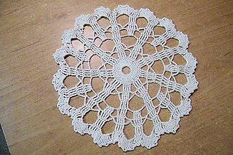 Úžitkový textil - Háčkovaný maslový kruh - 6976430_