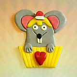 Magnetky - Okydaná zamilovaná zver - myš NA ZÁKAZKU - 6978822_