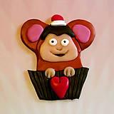 Magnetky - Okydaná zamilovaná zver - opica NA ZÁKAZKU - 6979227_
