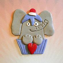 Magnetky - Okydaná zamilovaná zver (sloník NA ZÁKAZKU) - 6977309_