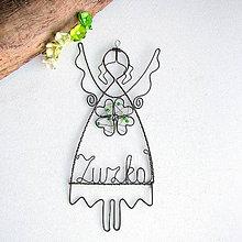Detské doplnky - anjelik pre šťastie s menom - 6980575_