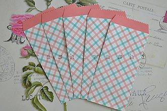 Papier - papierovy sacok/obalka farebne stvorce - 6983082_