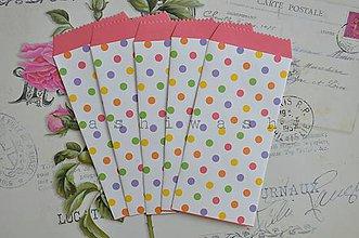 Obalový materiál - papierovy sacok/obalka farebne bodky - 6983097_