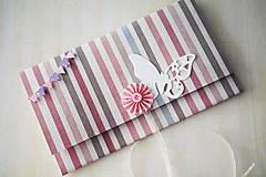 Papiernictvo - Scrapbook obálka na peniaze - krst - 6980875_