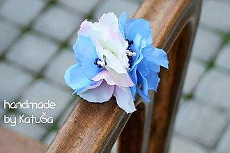 Ozdoby do vlasov - gumička do vlasov modrá - 6980527_