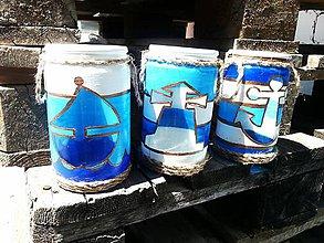 Svietidlá a sviečky - Svietniky v námorníckom štýle - 6980961_