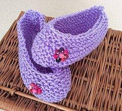 Topánočky - pletené papučky - 6982483_