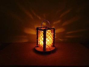 Svietidlá a sviečky - vintage svadba/svietnik S (lampáš) - 6981049_