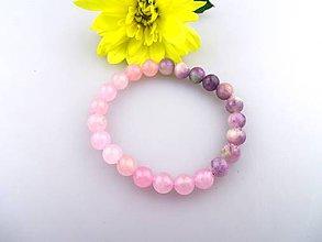 Náramky - pozdrav z Provensálska - náramok z ruženínu a jadeitu - 6980517_