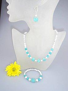 Sady šperkov - amazonit jadeit magnezit súprava - 6980586_