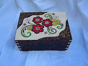 Krabičky - vypaľovaná krabička - 6982764_