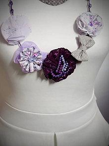 Náhrdelníky - Fialový Elegant Ametyst - náhrdelník - 6981877_
