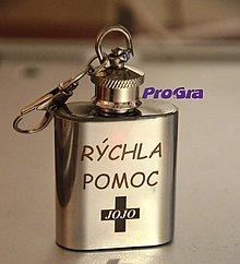 Kľúčenky - Prívesok Butylka podľa Vášho želania - 6982097_