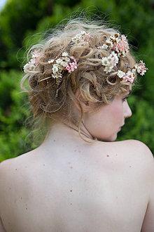 Ozdoby do vlasov - Slamienkový mini hrebienok \