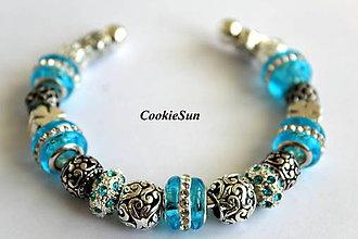 Náramky - Náramok Pandora Sky Blue - 6982095_