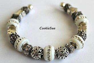 Náramky - Náramok Pandora White - 6982099_