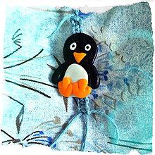 Kľúčenky - Tučniak Shamballa kľúčenka - 6980302_